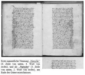 Auszug Naurath/Wald in der Fassung II des Güterverzeichnisses Maximin