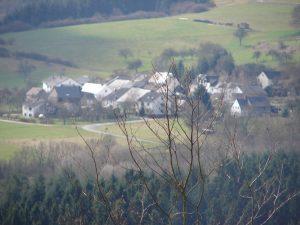 Schöne Sicht auf das Unterdorf von Naurath/Wald-Hochwald-Nationalparkregion