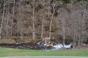 Der Staudamm der alten Mühle von Naurath-Wald-Hochwald-Nationalparkregion