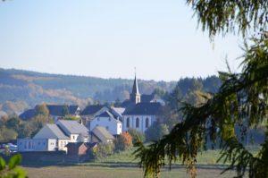 Schöne Aussicht auf Naurath/Wald-Hochwald-Nationalparkregion